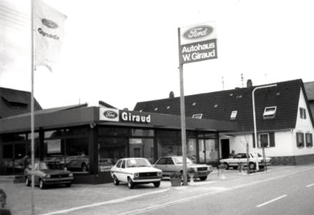 Die alten Autocenter Giraud Gebäude